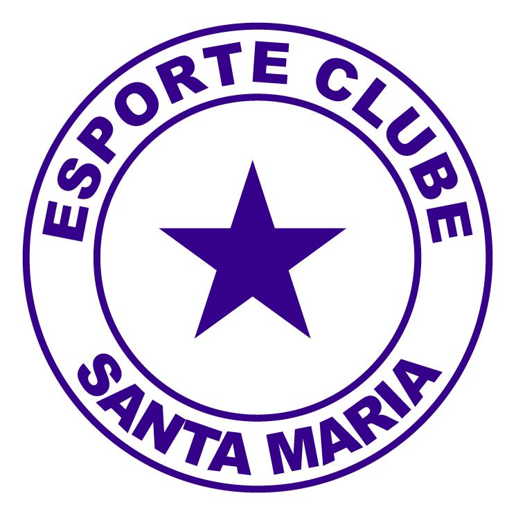 free vector Esporte clube santa maria de laguna sc