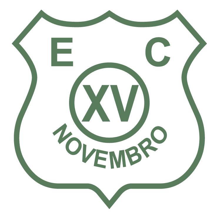 free vector Esporte clube xv de novembro caraguatatubasp