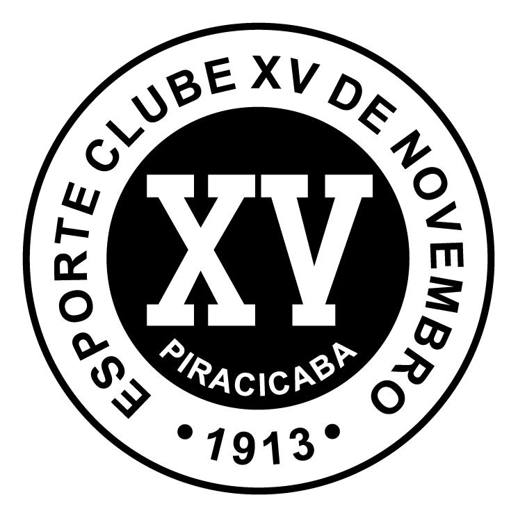 free vector Esporte clube xv de novembro de piracicaba sp