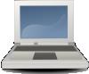 free vector Etiquette Laptop Icon Symbol clip art