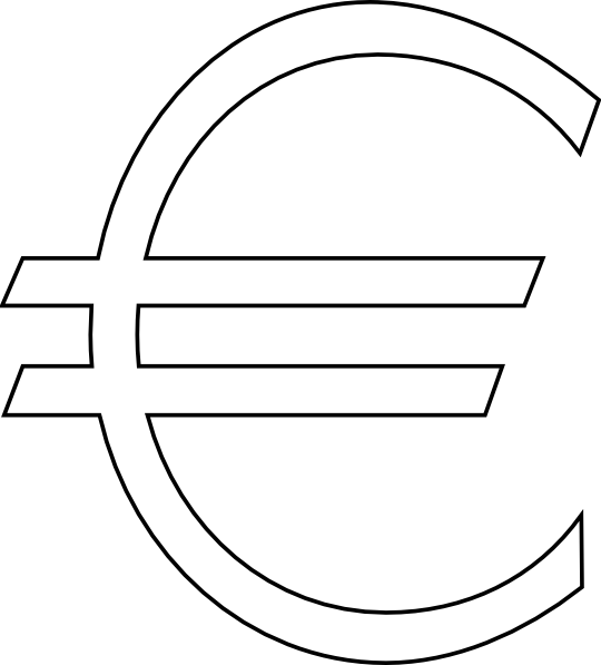 free vector Euro Sign Outline clip art