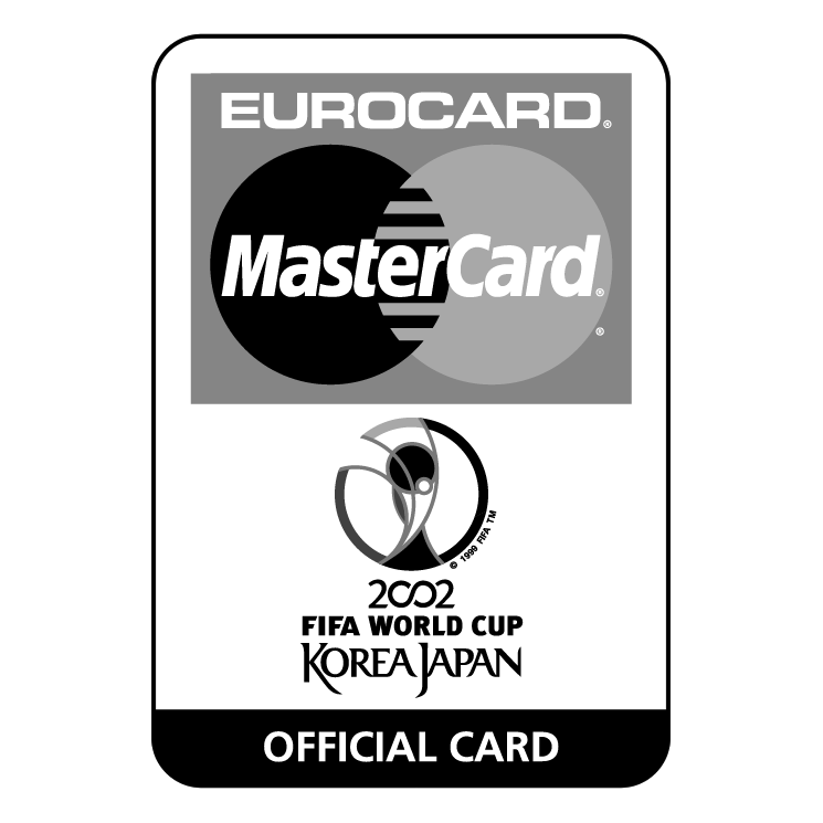 free vector Eurocard mastercard 2002 fifa world cup 1