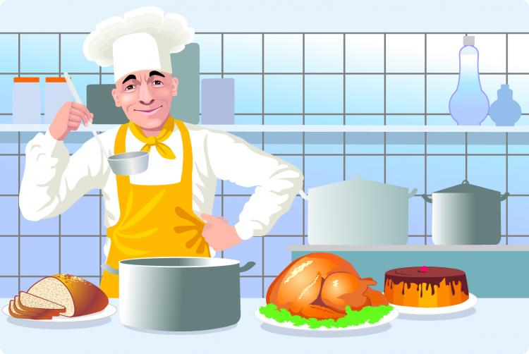 free vector European and american kitchen cooking clip art