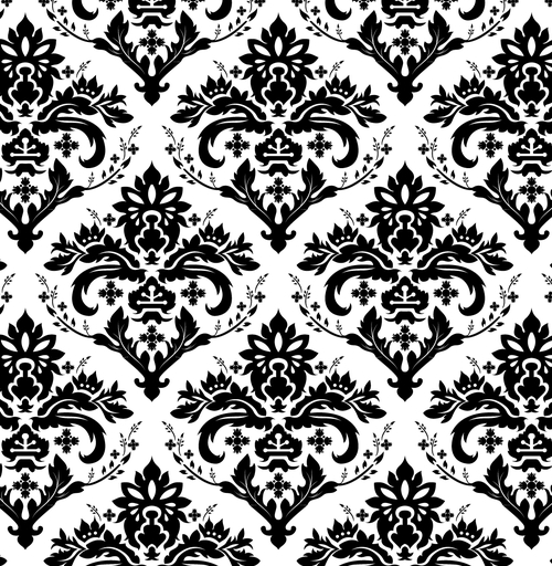 free vector European background of black and white pattern vector
