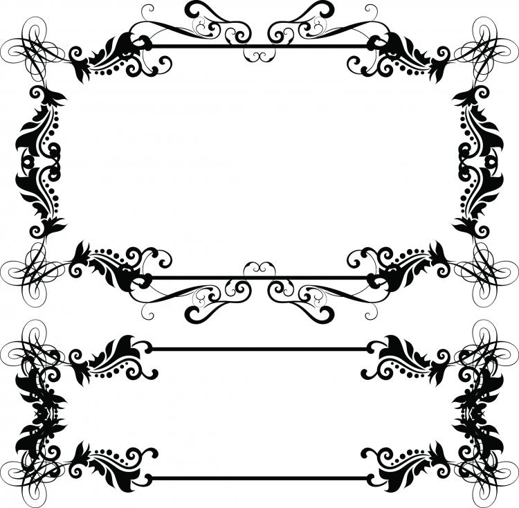 Vector Drawing Lines Download : European border pattern vector free