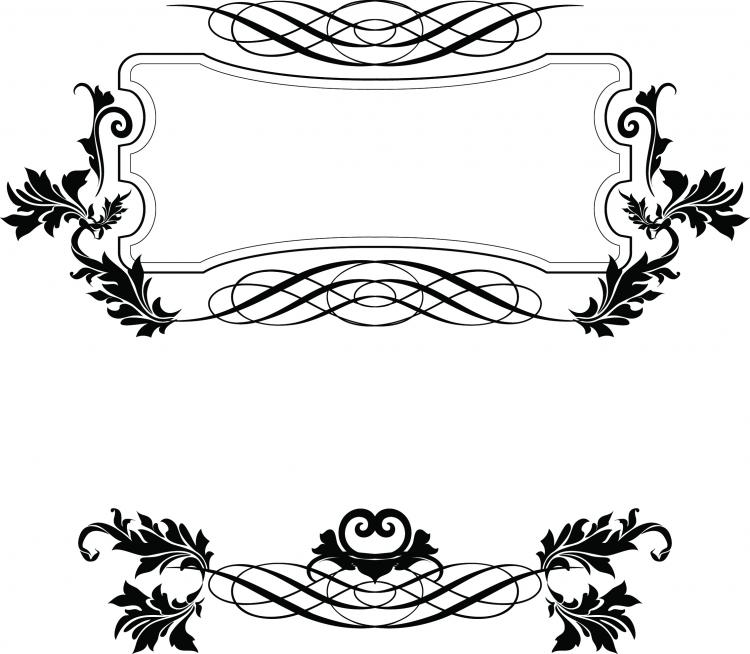 european border pattern vector free vector   4vector black and white damask clip art free free damask pattern clip art