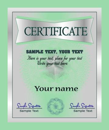 free vector European certificate 02 vector