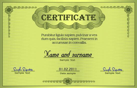 free vector European certificate 04 vector