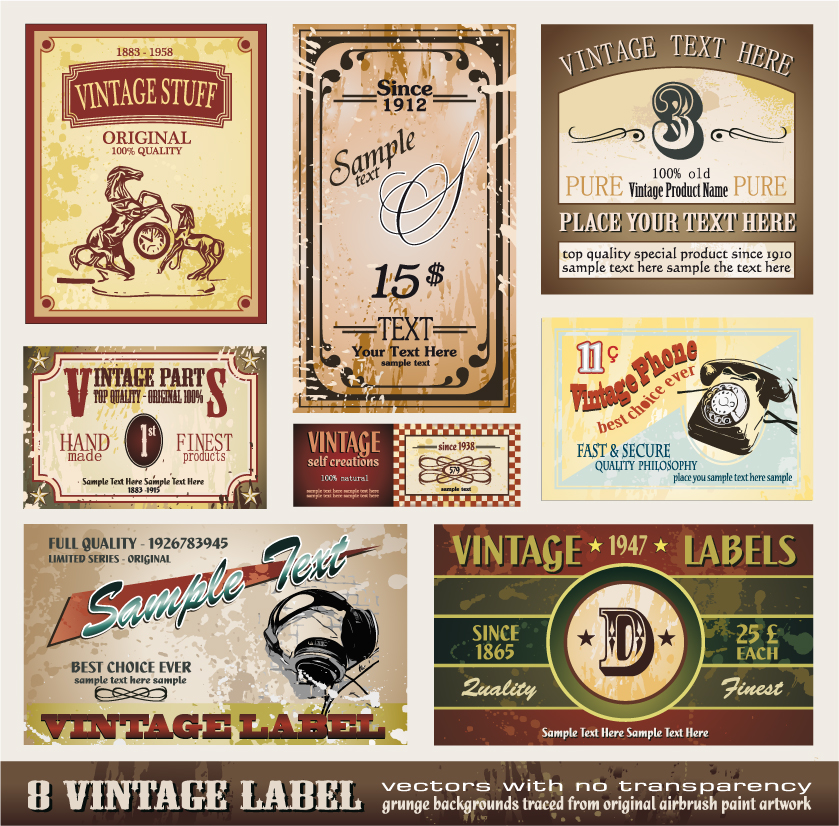 free vector European classic bottle label 01 vector