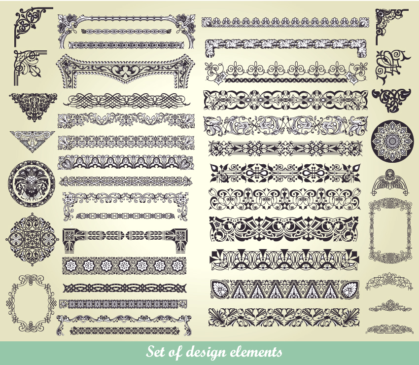 free vector European classic lace pattern 01 vector