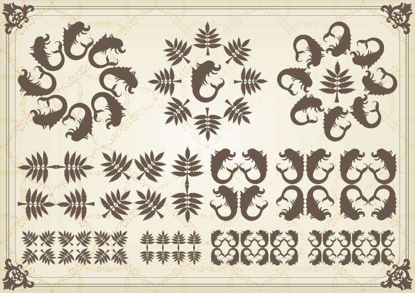 free vector European classic pattern 02 vector