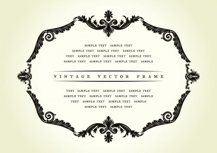 free vector European classic retro pattern border 02 vector