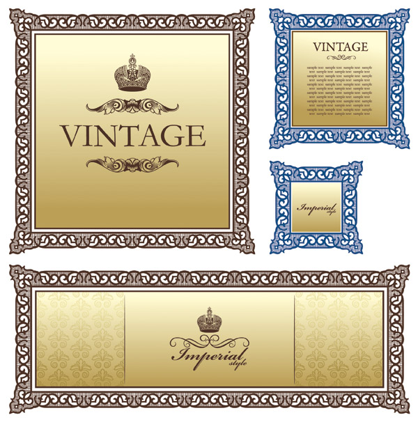 free vector European Classical Border Pattern Vector Material European Borders Patterns