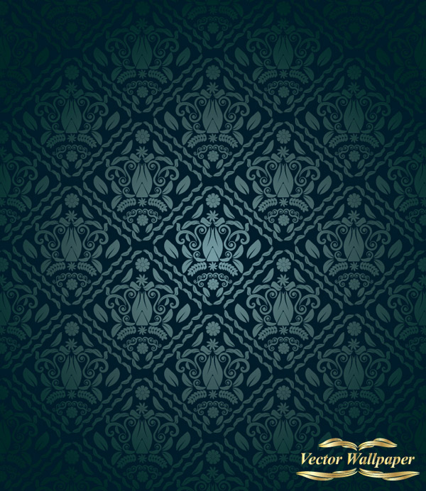 free vector European classical pattern vector shading