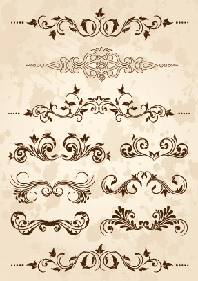 free vector European classical pattern vector