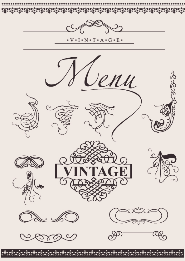 free vector European decorative lace pattern vector