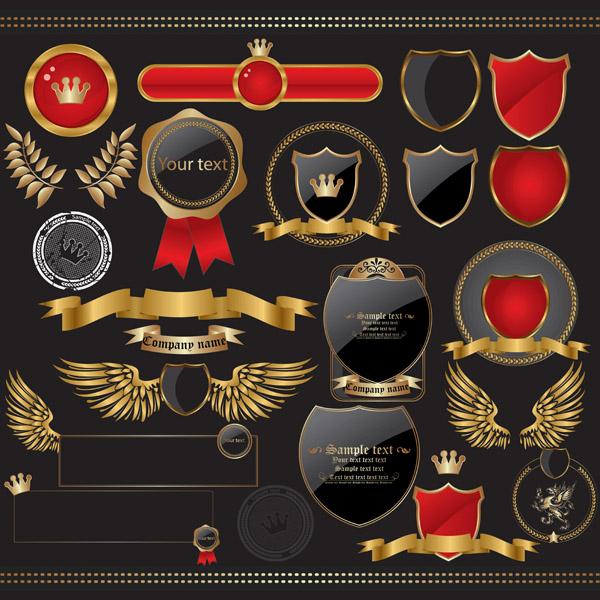 free vector European elegant style label vector