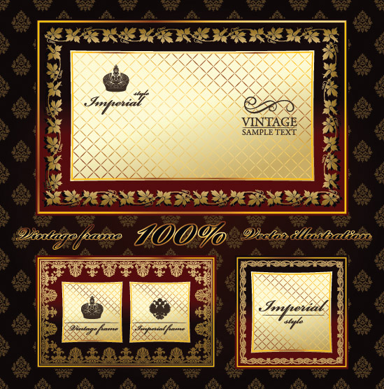 free vector European exclusive label and border vector