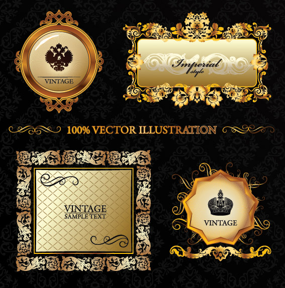 European exclusive label and border vector free vector for Exclusive bordering