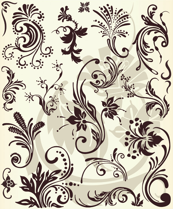 free vector European fashion pattern vector series