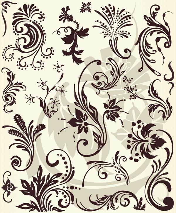 free vector European fashion pattern vector series