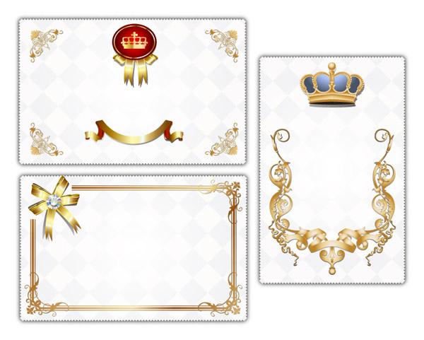 free vector European fine card background vector