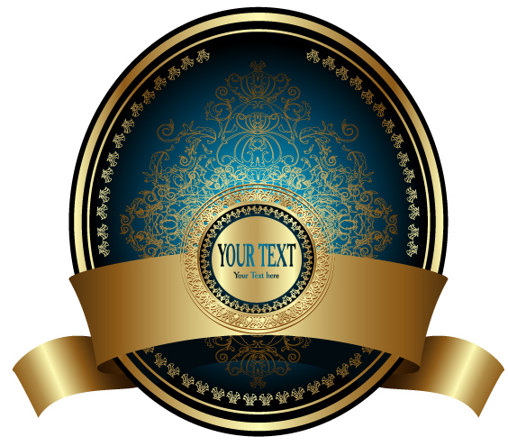 free vector European fine label vector