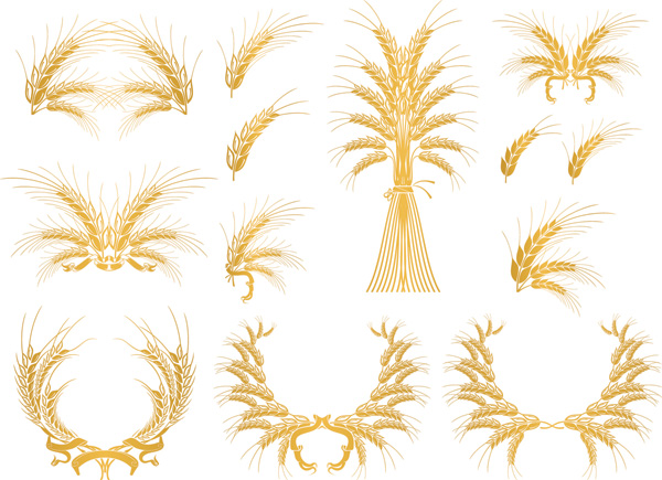 free vector European gold decorative elements vector