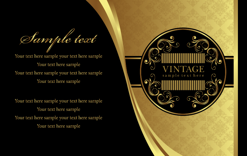 free vector European gold pattern