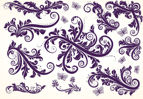 free vector European gorgeous beautiful pattern vector