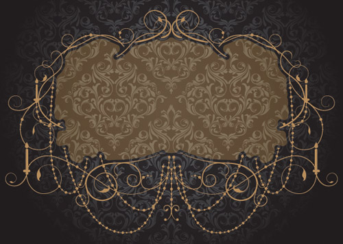 free vector European gorgeous border shading vector
