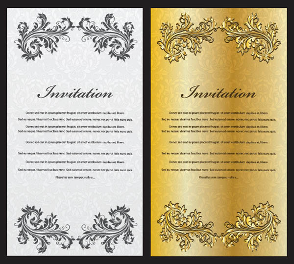 free vector European gorgeous certificate template pattern vector