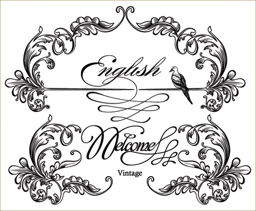 free vector European gorgeous classic lace pattern vector 4