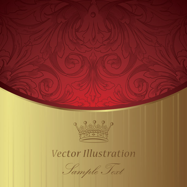 free vector European gorgeous classic pattern background 02 vector