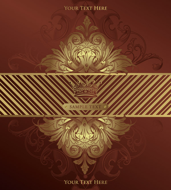 free vector European gorgeous classic pattern background 04 vector