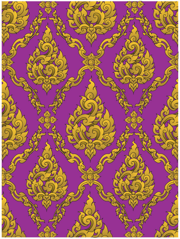 free vector European gorgeous classical pattern vector