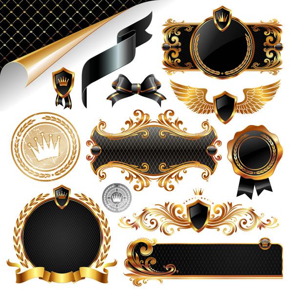 free vector European gorgeous decorative elements vector