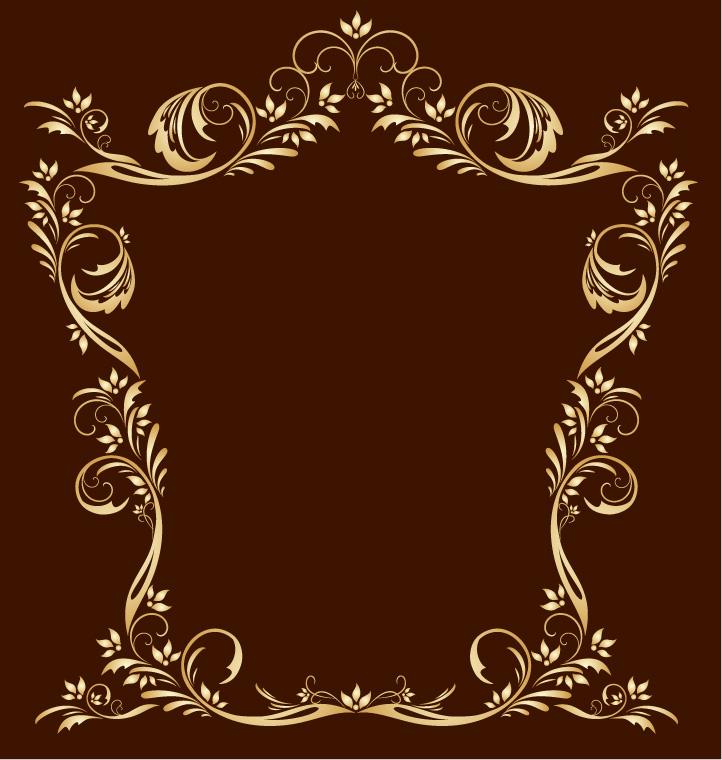 free vector European gorgeous fine golden lace vector