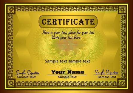 european gorgeous graduation certificate template vector