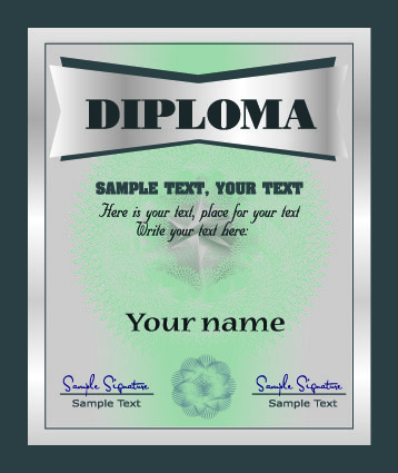 free vector European gorgeous graduation certificate template vector