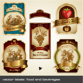 free vector European gorgeous label vector