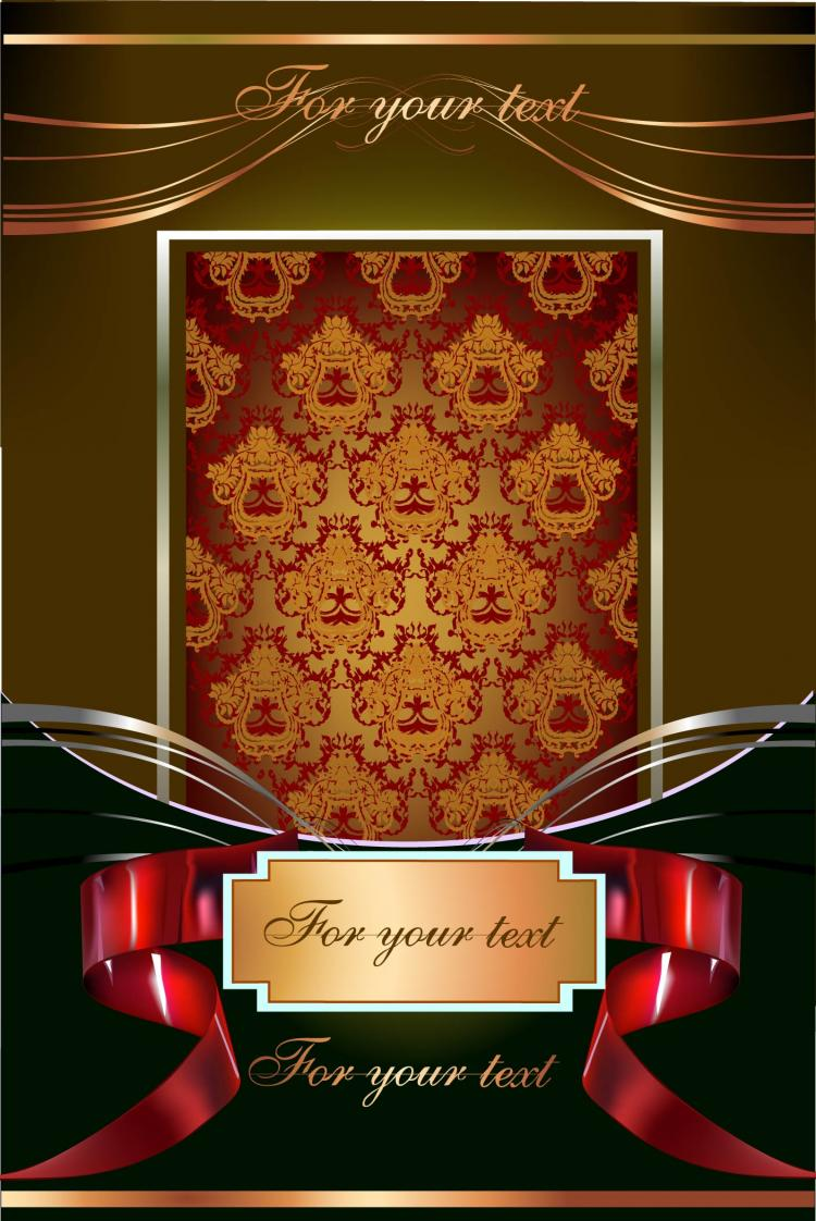 free vector European gorgeous pattern frame 01 vector