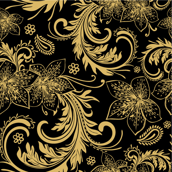 free vector European gorgeous pattern vector background