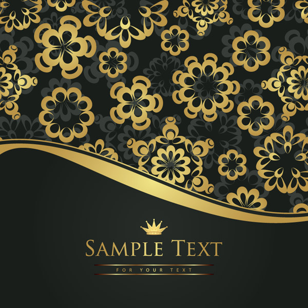 free vector European gorgeous pattern vector