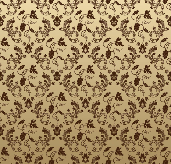 free vector European gorgeous shading pattern vector 3