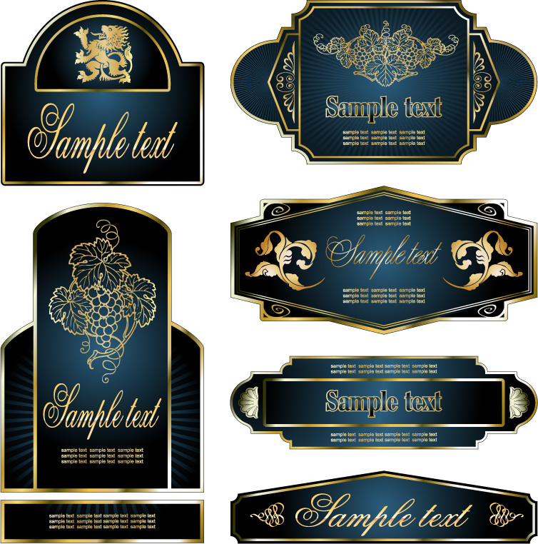 free vector European gorgeous variety of vector clip label