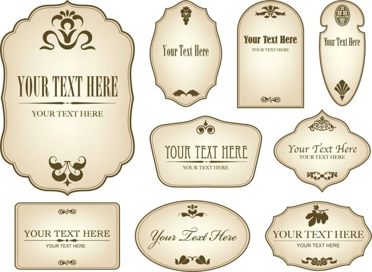 free vector European label vector