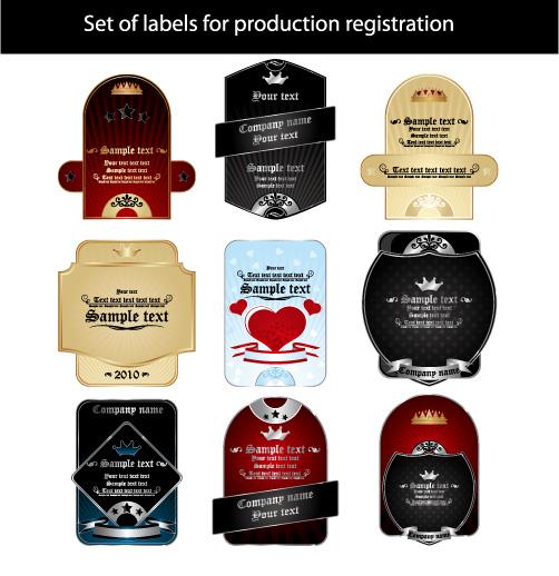 free vector European label vector