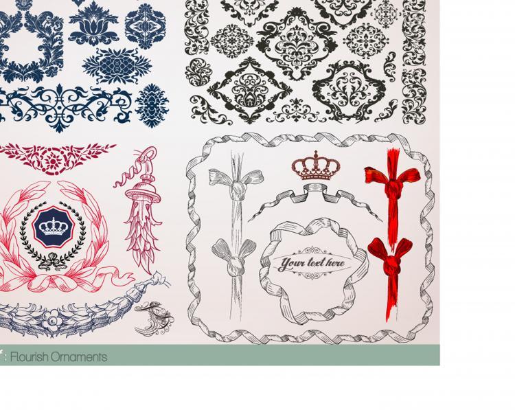free vector European lace border vector