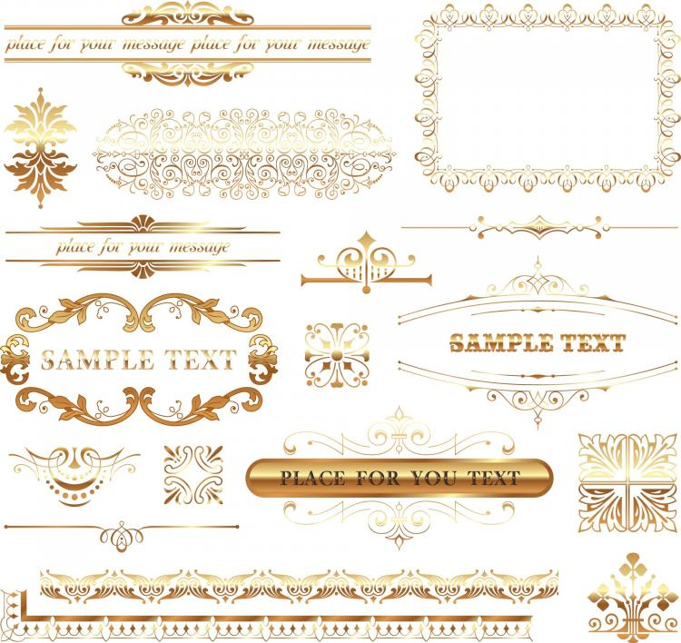 free vector European lace pattern vector